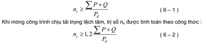 Công thức tính toán và thiết kế móng cọc tràm 1.4